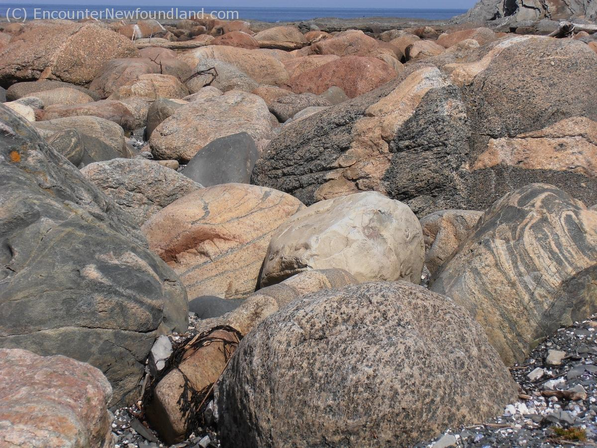 Boulders on the beach