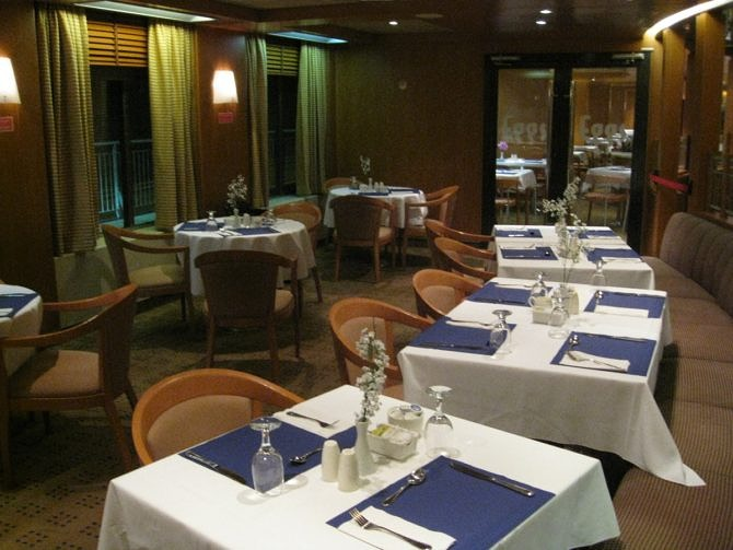 Restaurant onboard MV Atlantic Vision