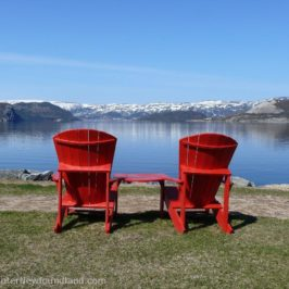 Chairs Looking Over Bonne Bay