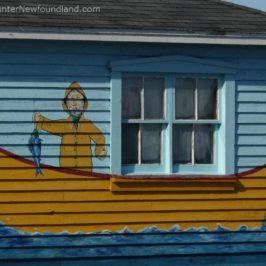 Newfie Boat Painted on House
