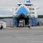 Ferry to Labrador unloading in St. Barbe, NL