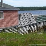 Lobster traps at Port Saunders