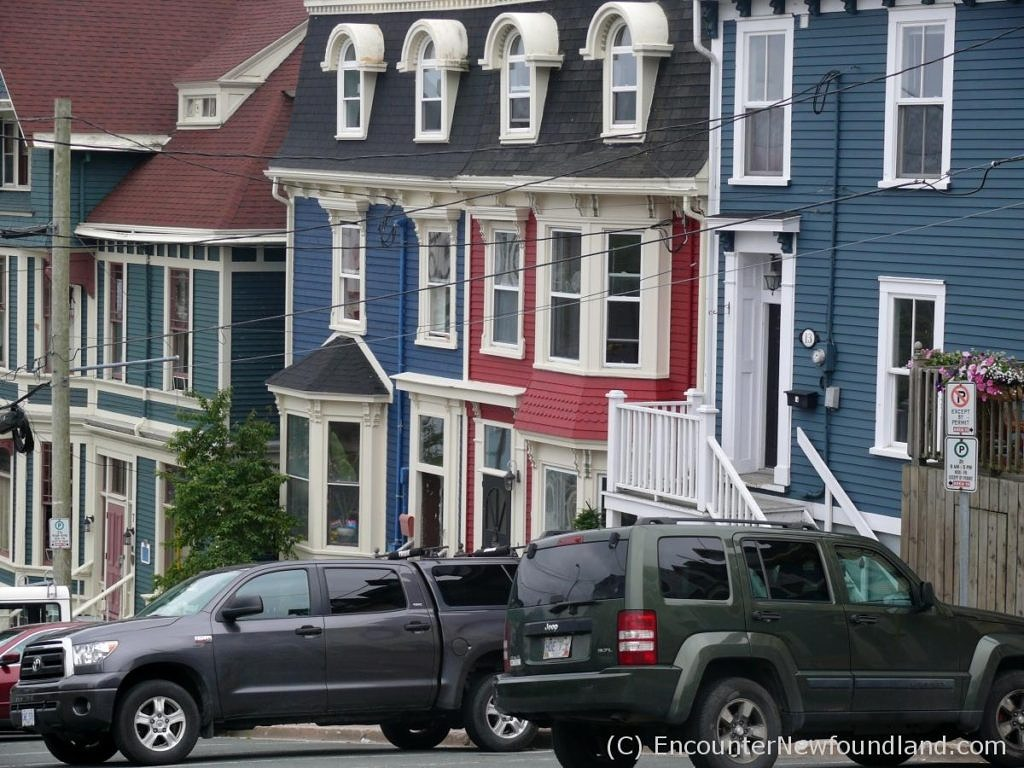 colorful row houses in St. John's