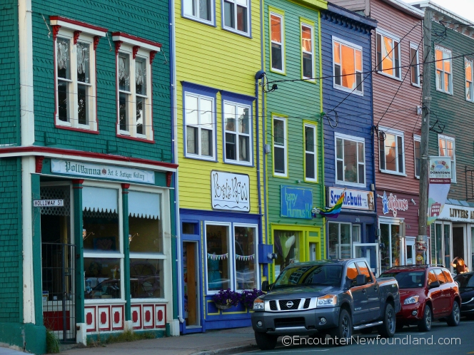 Colorful storefronts in St. John's