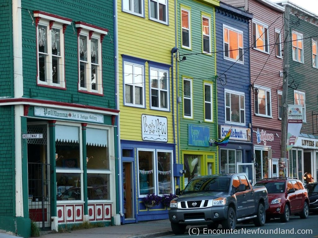 Jellybean storefronts in St. John's