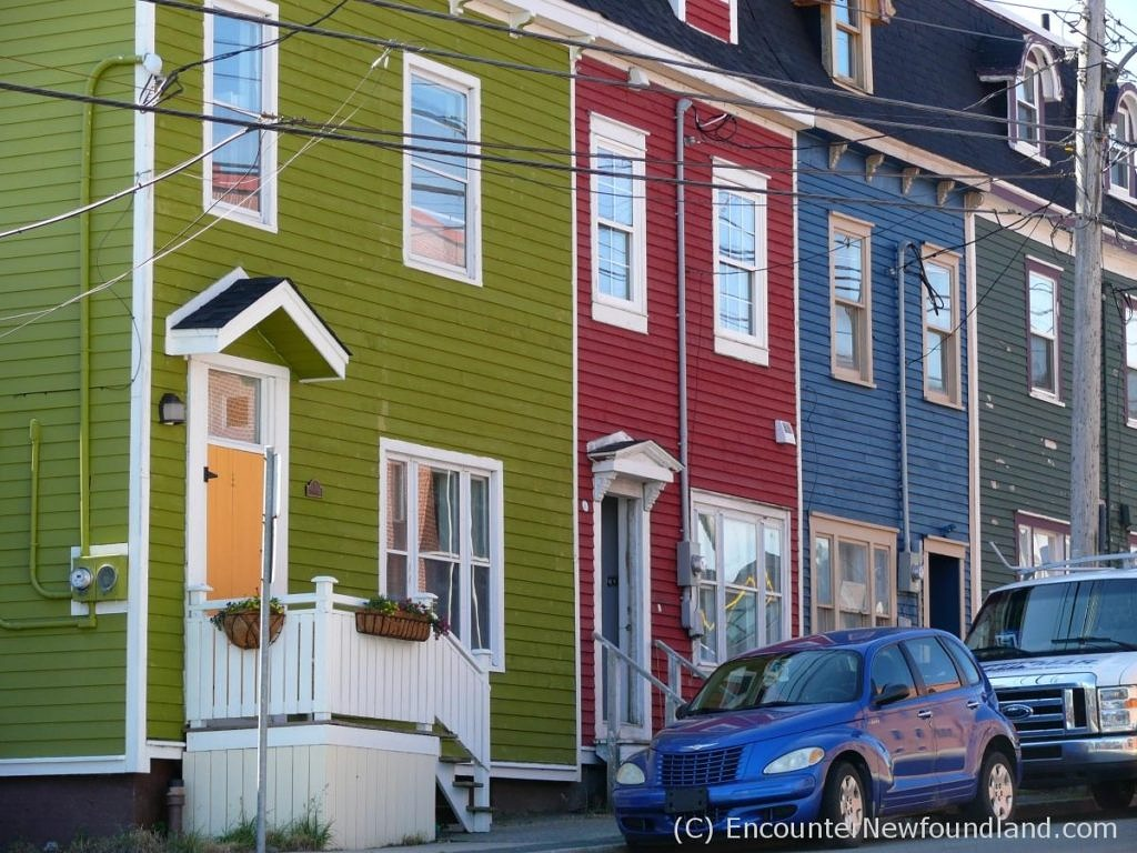 brilliant rowhouses of St. John's
