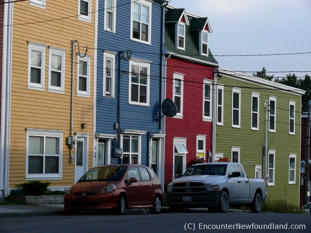 Parti-colored row houses