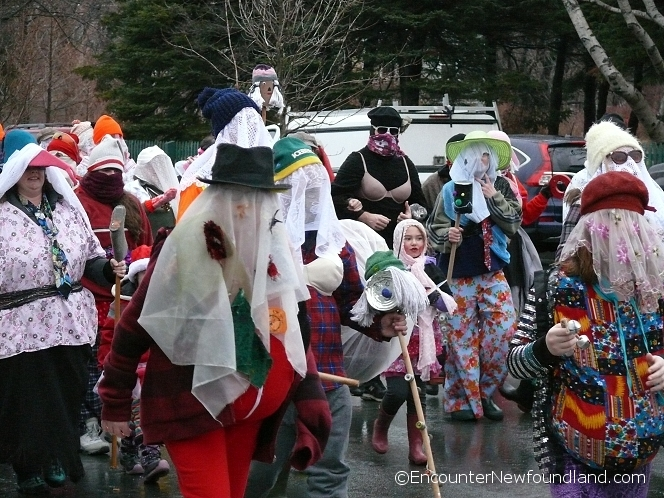 Massed group of mummers
