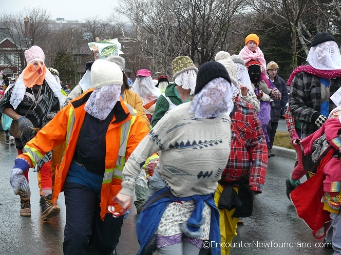 A group of mummers