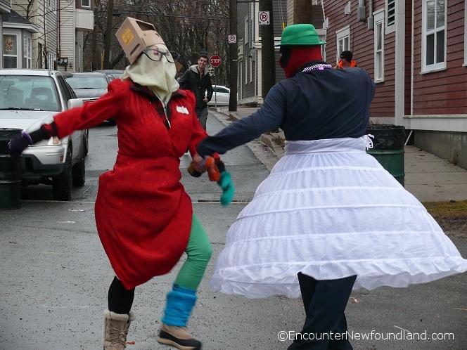 Dancing mummers