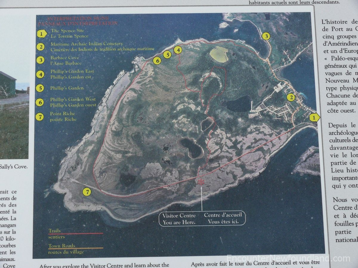 Map of Port au Choix