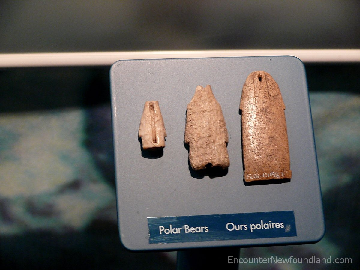 Bone polar bear pendants