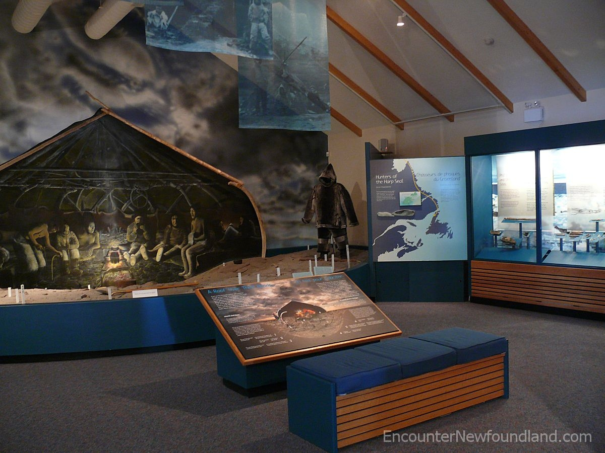 Inside the Visitor Center at Port au Choix National Historic Site